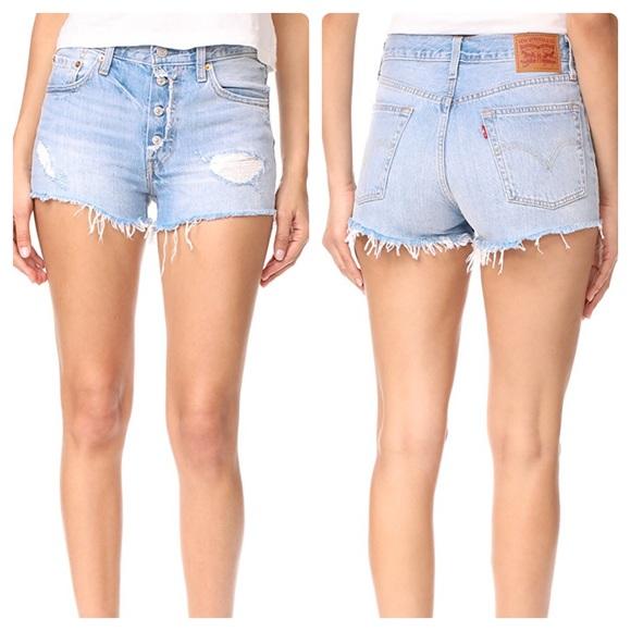 579d095e Levi's Shorts   Levis 501 Distressed Cut Off Button Fly   Poshmark